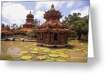 Phra Kaew Pavillion Greeting Card by Bill Brennan - Printscapes