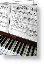 Piano Keys Greeting Card by Carlos Caetano
