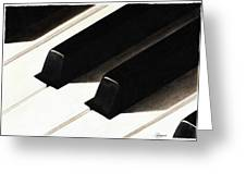 Piano Keys Greeting Card by Jeanne Delage