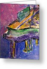 Piano Purple - Cropped Greeting Card by Anita Burgermeister