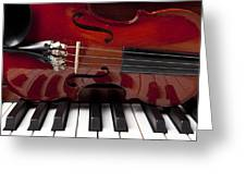 Piano Reflections Greeting Card by Garry Gay