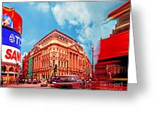 Piccadilly Circus London Greeting Card by Chris Smith