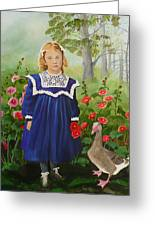 Picking Flowers Greeting Card by Virginia Sincler