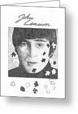 Pieces Of John Lennon Greeting Card by Julian  B