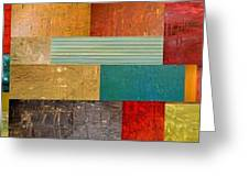Pieces Project V Greeting Card by Michelle Calkins