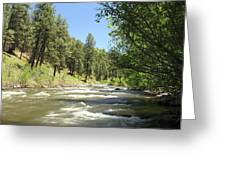 Piedra River Greeting Card by Eric Glaser