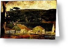Pierce Point Ranch 18 . Texture Greeting Card by Wingsdomain Art and Photography
