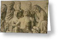 Pieta Greeting Card by Giovanni Bellini
