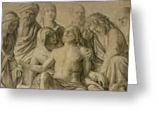 Pieta Greeting Card by Giovanni Bellini