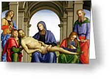 Pieta Greeting Card by Pietro Perugino