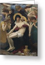 Pieta Greeting Card by William-Adolphe Bouguereau