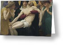Pieta Greeting Card by William Adolphe Bouguereau