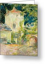 Pigeon Loft At The Chateau Du Mesnil Greeting Card by Berthe Morisot