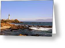 Pigeon Point Lighthouse Ca Greeting Card by Christine Till