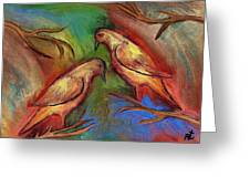 Pigeons Greeting Card by Rafi Talby