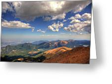 Pikes Peak Summit Greeting Card by Shawn Everhart