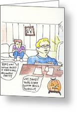 Pilots Lounge Halloween Greeting Card by JD Moores