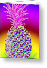 Pineapple Greeting Card by Eric Edelman