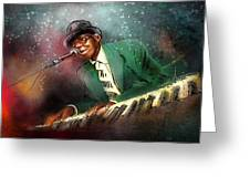 Pinetop Perkins Greeting Card by Miki De Goodaboom