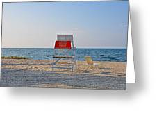 Piney Point Beach Greeting Card by Bill Cannon