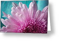 Pink And Aqua Greeting Card by Dale Kincaid