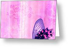 Pink and Purple Butterfly Companions 2 Greeting Card by JQ Licensing