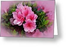 Pink Azaleas Greeting Card by Sandy Keeton