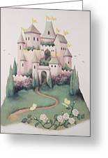 Pink Castle Greeting Card by Suzn Smith
