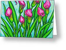 Pink Ladies Greeting Card by Lisa  Lorenz