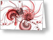 Pink Shrimp Greeting Card by David April