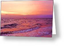 Pink Sunrise Greeting Card by Kristin Elmquist