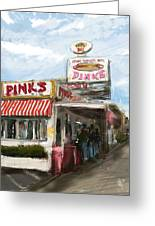 Pinks Greeting Card by Russell Pierce