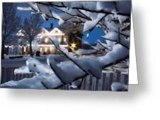Pioneer Inn At Christmas Time Greeting Card by Utah Images