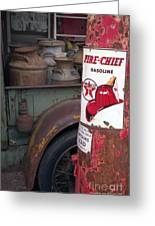 Pit Stop Greeting Card by Richard Rizzo