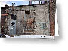 Pitt Street Wall Greeting Card by Reb Frost