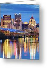 Pittsburgh 2 Greeting Card by Emmanuel Panagiotakis