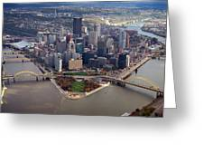 Pittsburgh 8 in color  Greeting Card by Emmanuel Panagiotakis