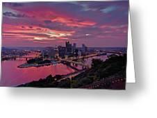 Pittsburgh Dawn Greeting Card by Jennifer Grover