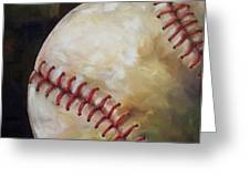 Play Ball Greeting Card by Kristine Kainer