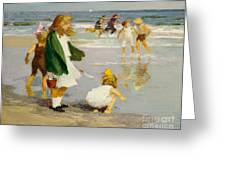 Play in the Surf Greeting Card by Edward Henry Potthast