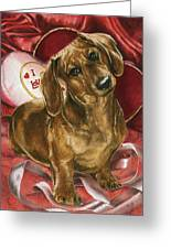 Please Be Mine Greeting Card by Barbara Keith