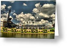 PNC Park Greeting Card by Arthur Herold Jr