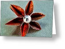 Poinsettia Flower Greeting Card by Stan Mowatt