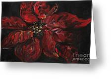 Poinsettia Greeting Card by Nadine Rippelmeyer