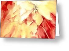 Poinsettias Greeting Card by Joan  Jones