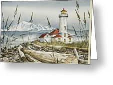 Point Wilson Lighthouse Greeting Card by James Williamson