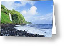Pokupupu Point Greeting Card by Peter French - Printscapes