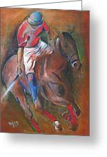 Polo Player Greeting Card by Vered Thalmeier
