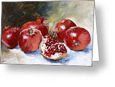 Pomegranate Greeting Card by Tanya Jansen