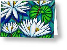 Pond Jewels Greeting Card by Lisa  Lorenz